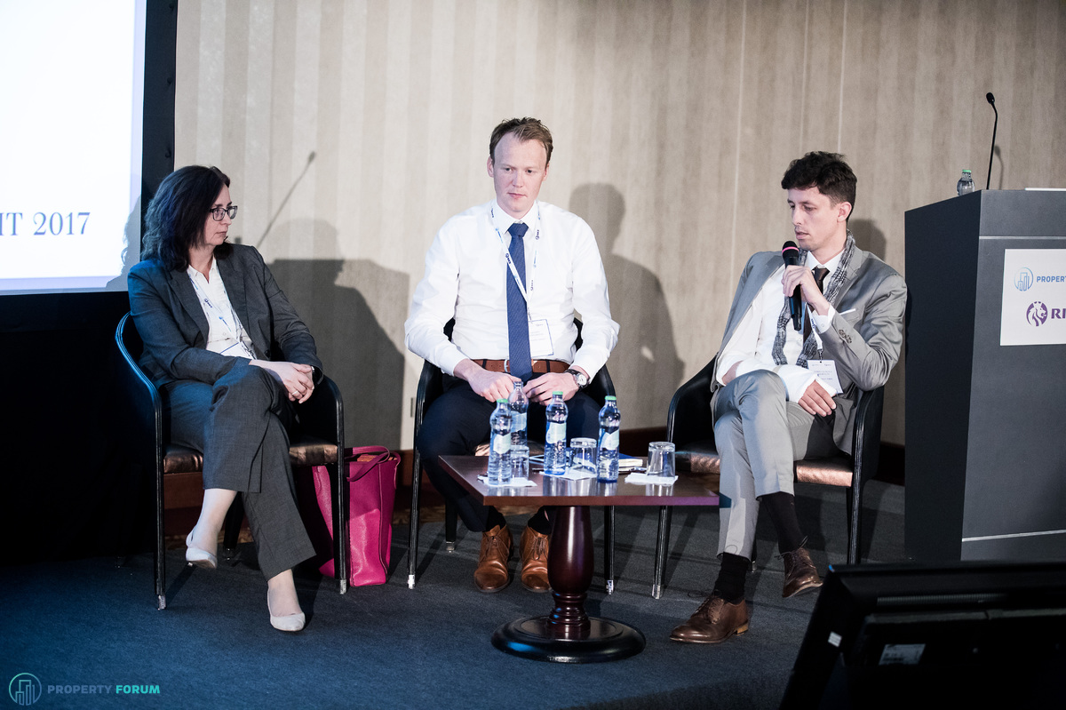 The future of offices roundtable. Sarolta Csikós MRICS (Regional Leasing Director – Office, TriGranit Corporation), JanJaap Boogaard (Head of EMEA Workplace Solutions, Colliers International) and Tomas Cechvala (Architect, Tomas Cechvala Architects).